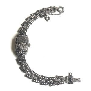 CARL BUCHERER SS PEEK A BOO WRIST WATCH MARCASITE